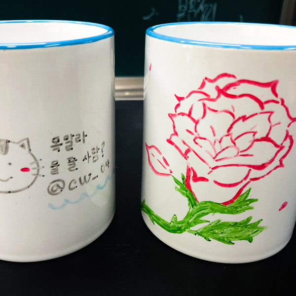 포슬린 공예가<p>머그컵&컵받침대</p>